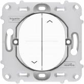 Interrupteur volet roulant 2 boutons blanc Schneider Ovalis Réf : S261208