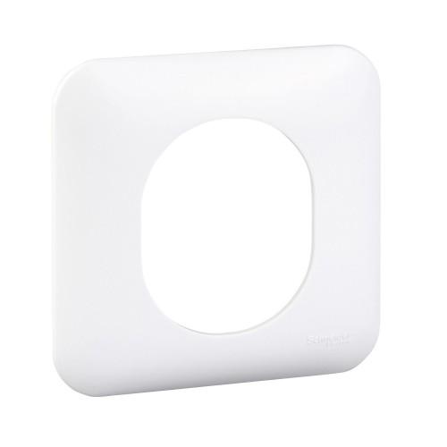 Plaque de finition simple Schneider Ovalis Réf: S260702