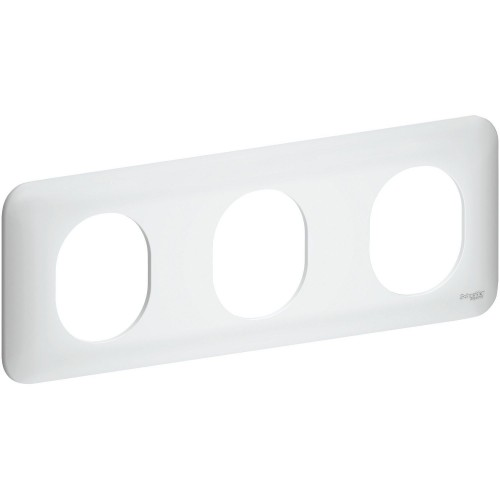 Plaque de finition triple horizontale Schneider Ovalis Réf: S260706