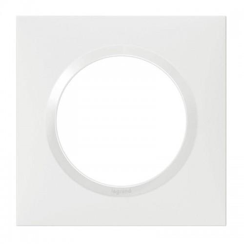 Plaque de finition 1 poste Blanc Dooxie Réf: 600801