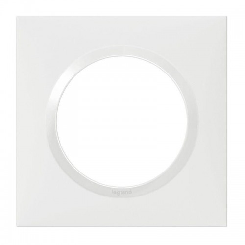 Plaque de finition carrée 1 poste Dooxie Blanc Réf: 600801
