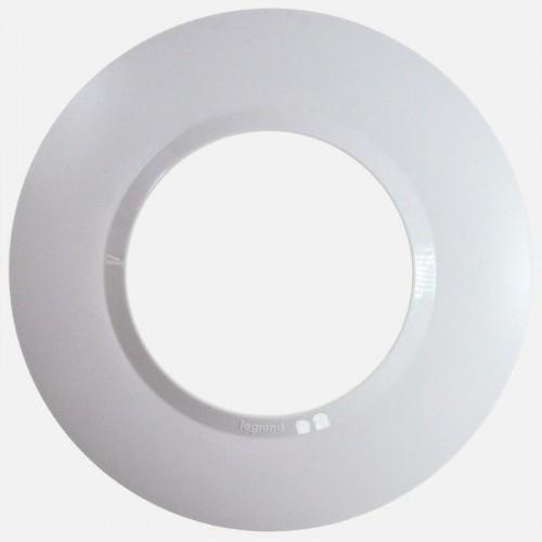 Plaque de finition ronde 1 poste Dooxie Blanc Réf: 600980