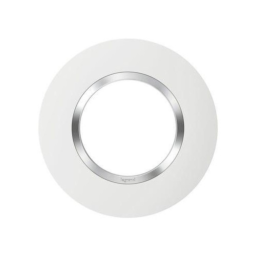 Plaque de finition ronde simple Dooxie chrome Réf: 600973