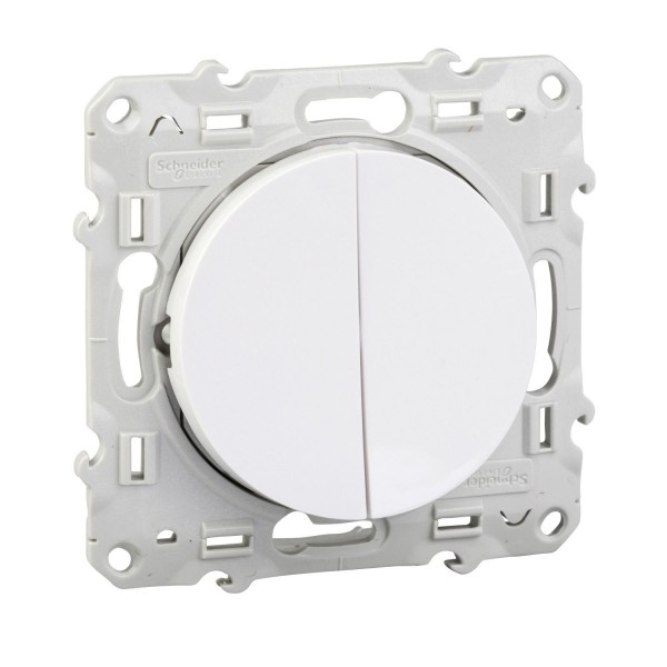 Double interrupteur va-et-vient Schneider Odace Réf : S520204