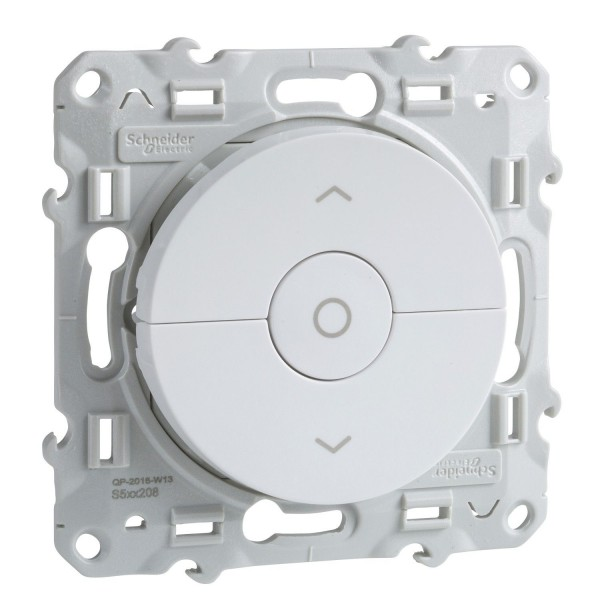 Interrupteur volet roulant blanc Schneider Odace Réf : S520208