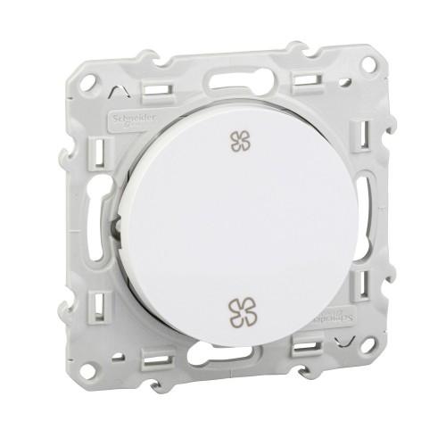 Interrupteur VMC blanc Schneider Odace Réf: S520233