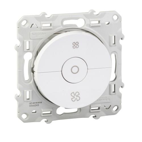 Interrupteur VMC blanc Schneider Odace Réf: S520243