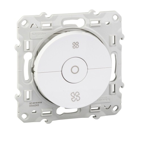 Interrupteur VMC blanc Schneider Odace Réf : S520243