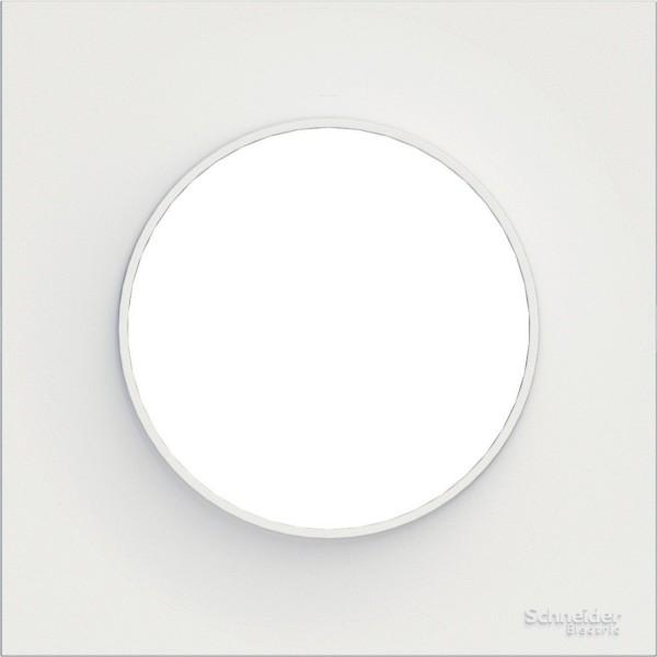 Plaque de finition simple blanc Schneider Odace Réf: S520702