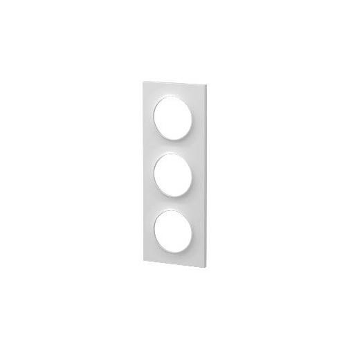 Plaque de finition triple blanc Schneider Odace Réf: S520706