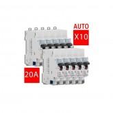 Disjoncteur DNX Phase + Neutre 20A Legrand Réf: 406775