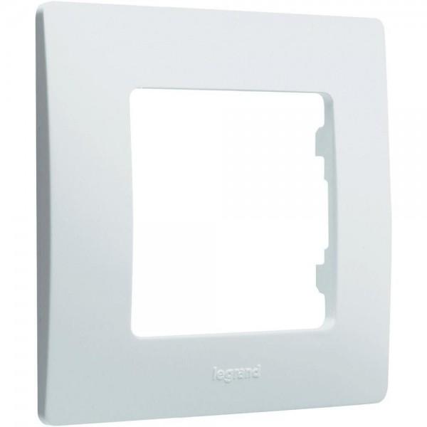 Plaque de finition 1 poste simple Niloé Legrand Blanc Réf: 665001