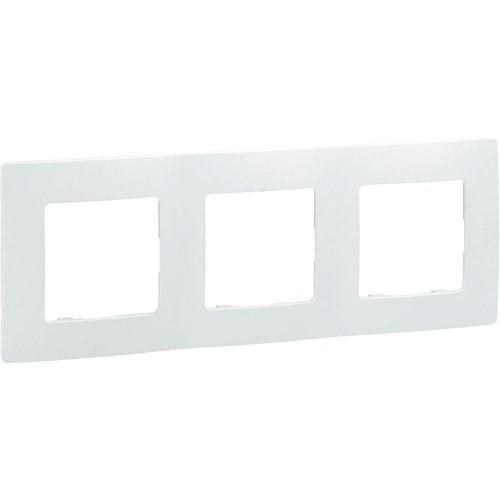 Plaque de finition triple 3 postes Niloé Legrand Blanc Réf: 665003