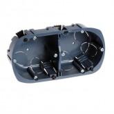 Boîte multi-matériaux XL Ultra Eur'Ohm - 2 postes - Diam. 67/68mm Prof. 40 mm Réf: 52054