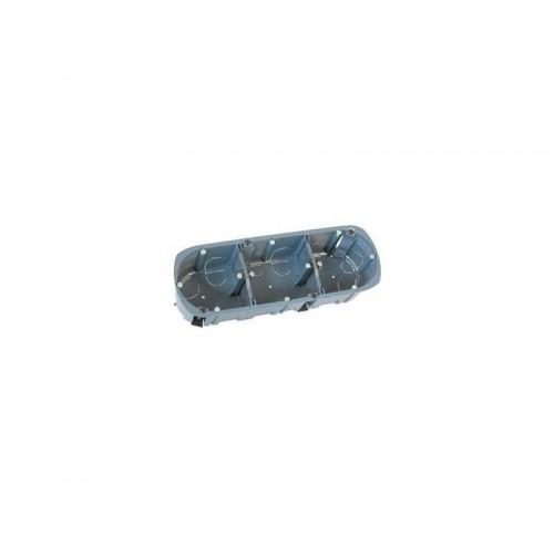 Boîte multi-matériaux XL Ultra 3 postes Eur'Ohm Diam. 67/68 mm Prof. 40 mm - Réf. 52056