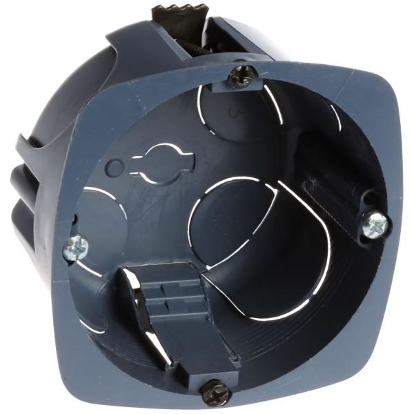Boîte multi-matériaux XL Ultra Eur'Ohm - 1 poste - diam 67/68 mm profondeur 40 mm - Pack de 100 avec scie cloche -Réf: 52052