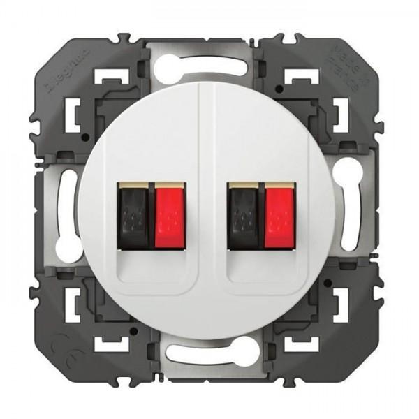 Prise haut parleur double Dooxie blanc Réf: 600382