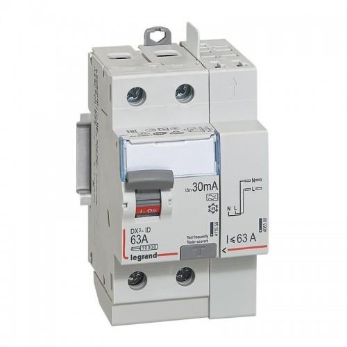 Interrupteur différentiel 63A type A Legrand Réf: 411639