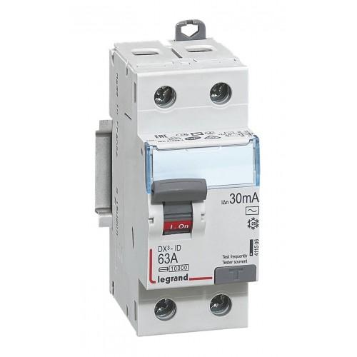 Interrupteur différentiel Legrand 63A type AC Réf: 411506