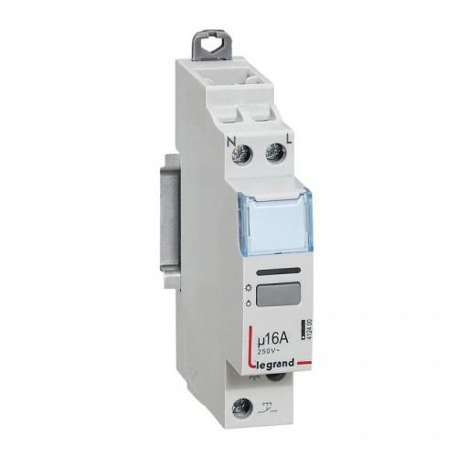 Télérupteur silencieux CX³ bornes à vis 16A 250V monophasé Legrand Réf: 412400