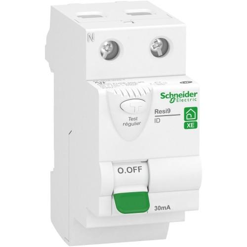 Interrupteur différentiel Resi9 XE 63A type A auto Schneider Réf: R9ERA263