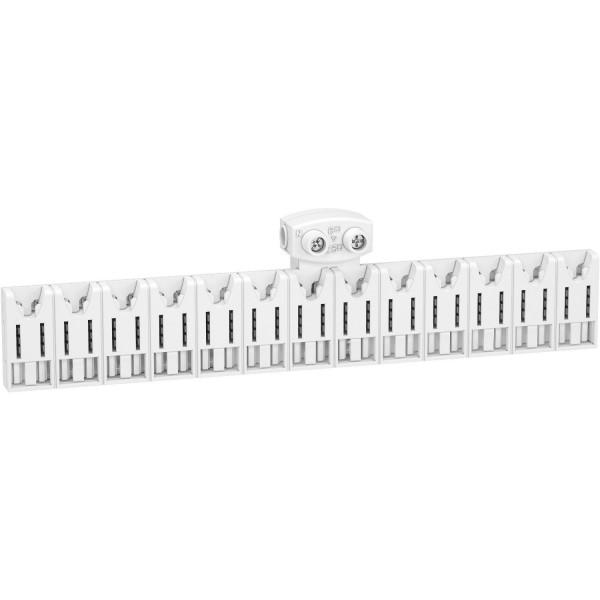 Répartiteur d'alimentation 13 modules avec connecteur Schneider Réf: R9EXHC13