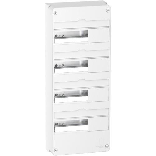 Tableau électrique vide Resi9 4 rangées 13 modules Schneider Réf: R9H13404