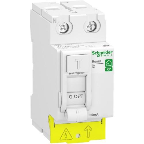 Interrupteur différentiel 25A type AC Resi9 XP Schneider Réf: R9PRC225