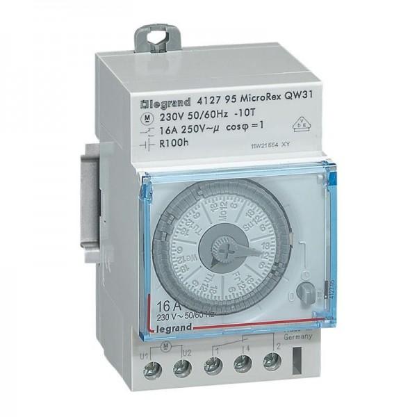 Interrupteur horaire analogique cadran horizontal hebdo Legrand Réf: 412795