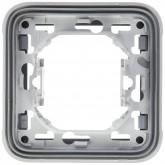 Support plaque simple à encastrer étanche Plexo composable gris Legrand Réf: 069681
