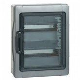 Coffret Etanche Plexo 2 rangées 18 modules IP65 IK09 gris Legrand Ref: 001925