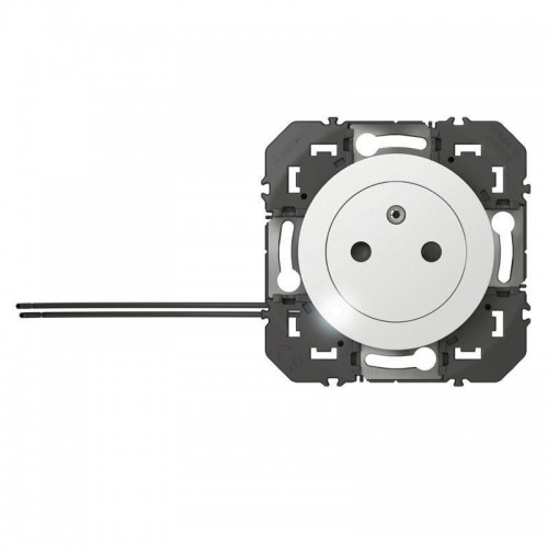 Prise de courant à voyant Surface Dooxie Legrand 2 P+T Blanc 16A - Réf: 600320