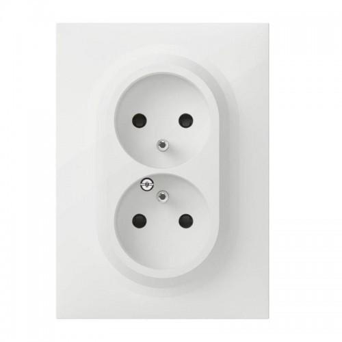 Double prise de courant compacte monobloc easyréno 2P+T Dooxie Legrand Réf : 600321
