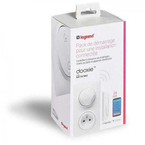 Pack de démarrage connecté 1 prise Control + 1 commande Départ/Arrivée Dooxie with Netatmo blanc Legrand Réf: 600670