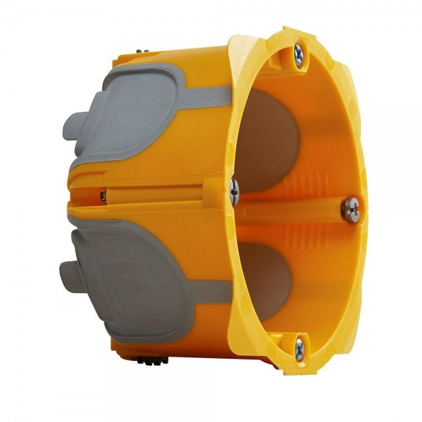 Ecobatibox boîte d'encastrement étanche simple 1 poste Diam 67mm prof 40mm Legrand Réf: 080021