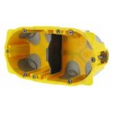 Ecobatibox Boîte d'encastrement 2 postes 4 à 5 modules prof 40mm entraxe 71mm Legrand Réf: 080022