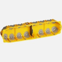 Ecobatibox boite d'encastrement quadruple isolée prof 40mm entraxe 71mm Legrand Réf: 080024