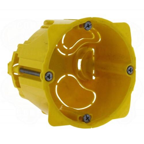 Batibox Boite d'encastrement monoposte pour cloisons sèches Diam 67mm prof 50mm Legrand Réf: 080051