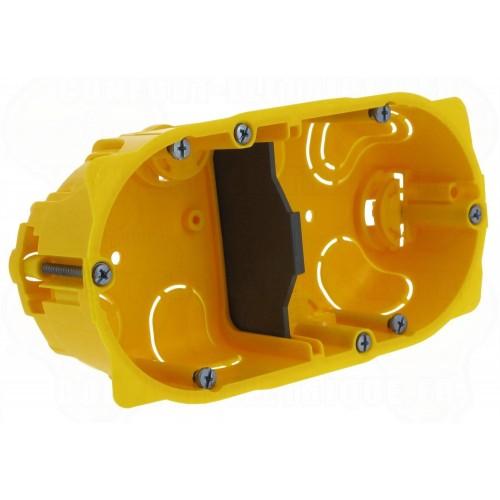Ecobatibox boite d'encastrement double non isolée prof 50mm entraxe 71mm Legrand Réf: 080042