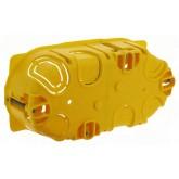 Boite d'encastrement Batibox 2 postes ou 4 à 5 modules pour cloisons sèches prof 40mm entraxe 71mm Legrand Réf: 080042