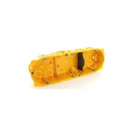 Ecobatibox boite d'encastrement triple non isolée prof 40mm entraxe 71mm Legrand Réf: 080043