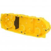 Boite d'encastrement Batibox 3 postes ou 6 à 8 modules pour cloisons sèches prof 40mm entraxe 71mm Legrand Réf: 080043