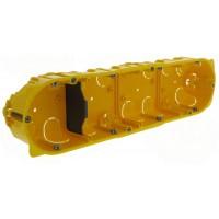 Ecobatibox boite d'encastrement quadruple non isolée prof 40mm entraxe 71mm Legrand Réf: 080044