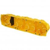 Boite d'encastrement Batibox 4 postes ou 8 à 10 modules pour cloisons sèches prof 40mm entraxe 71mm Legrand Réf: 080044