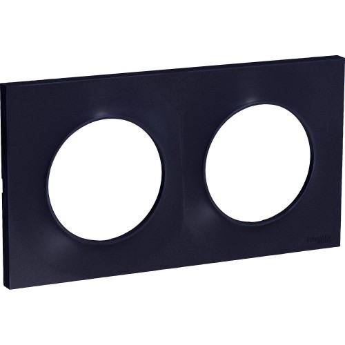 Plaque Odace Styl anthracite 2 postes Schneider Réf: S540704