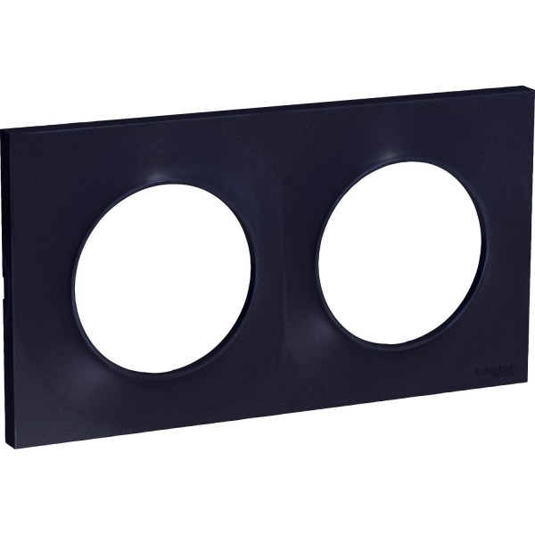 Plaque Odace Styl anthracite 2 postes Schneider Réf: S540704