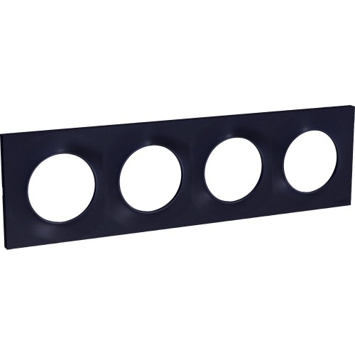 Plaque Odace Styl anthracite 4 postes Schneider Réf: S540708