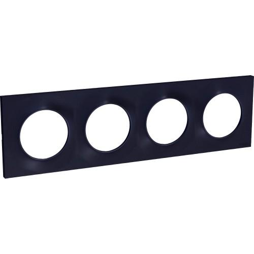 Plaque Odace Styl anthracite 4 postes Schneider Réf: S540708