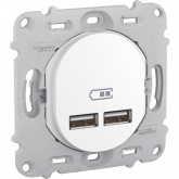 Prise double chargeur USB Schneider Ovalis Réf: S261407