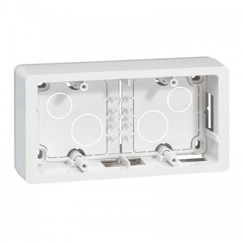 Cadre saillie 2 postes horizontal ou vertical Legrand Celiane Blanc Réf: 080242